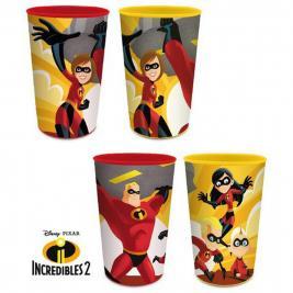 A hihetetlen család - The Incredibles 4 db-os pohár szett