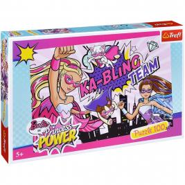 Barbie a szuperhős hercegnő puzzle 100 db