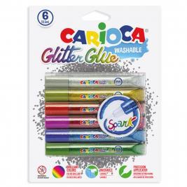 Carioca 6 db-os glitteres Spark csillámragasztó