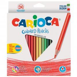 Carioca háromszög 24 db-os színes ceruza szett