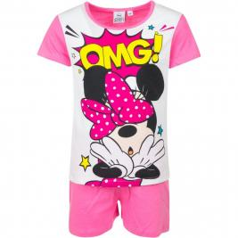 Minnie egér pamut rövid ujjú és szárú pizsama