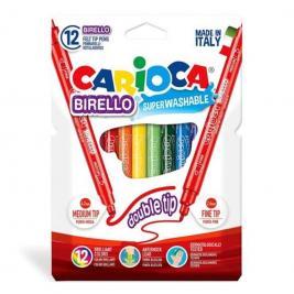 Carioca Birello lemosható 12 db-os kétvégű filctoll