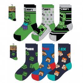 Minecraft 3 db-os lábszár zokni 23-38