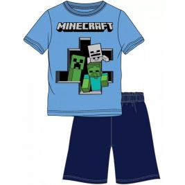 Minecraft rövid ujjú rövid nadrágos pizsama